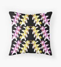 pink, Parade, dabbing unicorn, unicorns, unicorn, dabbing unicorn,  Throw Pillow