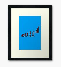 Basketball evolution geek funny nerd Framed Print