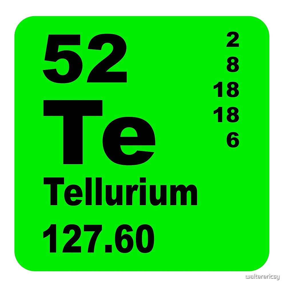 Tellurium Periodic Table of Elements by walterericsy
