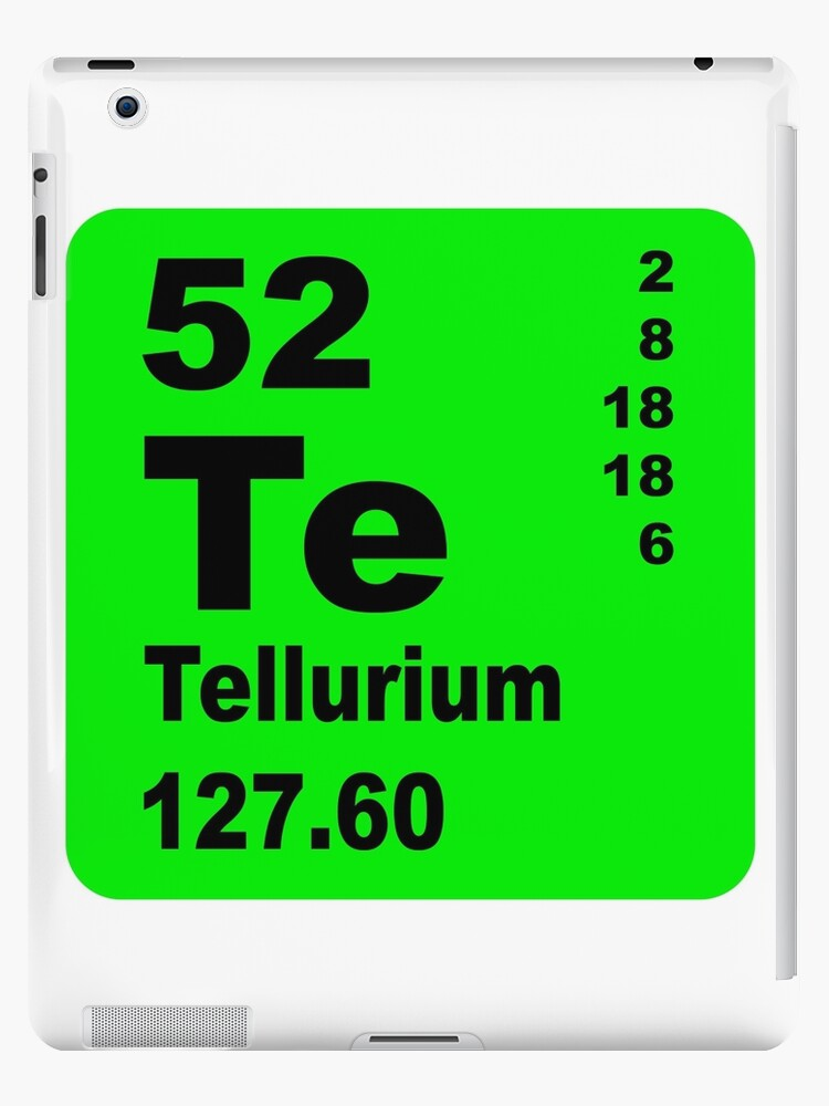 Tellurium Periodic Table Of Elements Ipad Cases Skins By