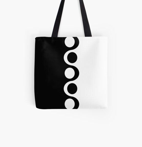 Black White Mod All Over Print Tote Bag