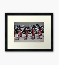 Scooters in Barcelona Framed Print