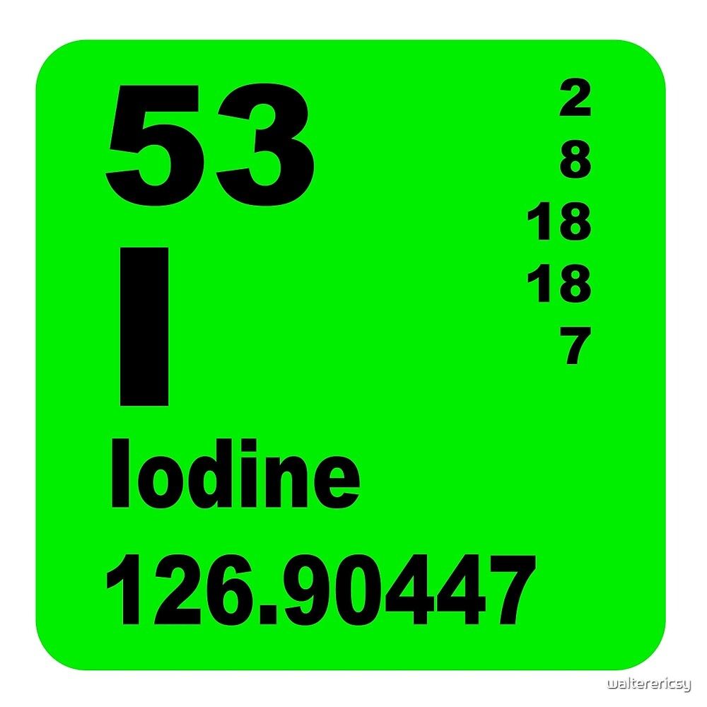 Iodine Periodic Table of Elements by walterericsy