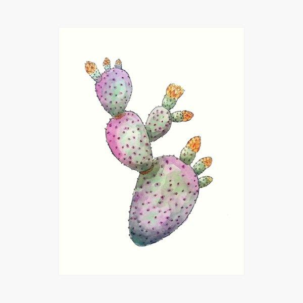 A Purple Prickly Pear Art Print