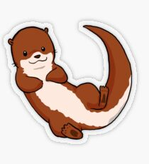 Otterly Awesome Transparent Sticker