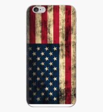 Rustic Patriotic American Flag iPhone Case