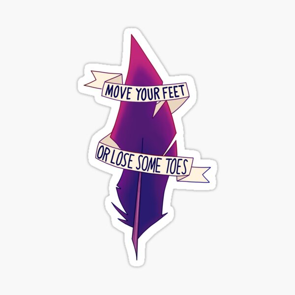 Xayah Quote Feather Sticker