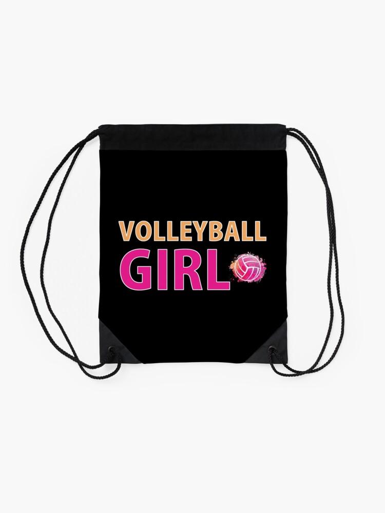 Alternative Ansicht von Volleyball Mädchen T-Shirts Sport Frauen Geschenkidee Turnbeutel