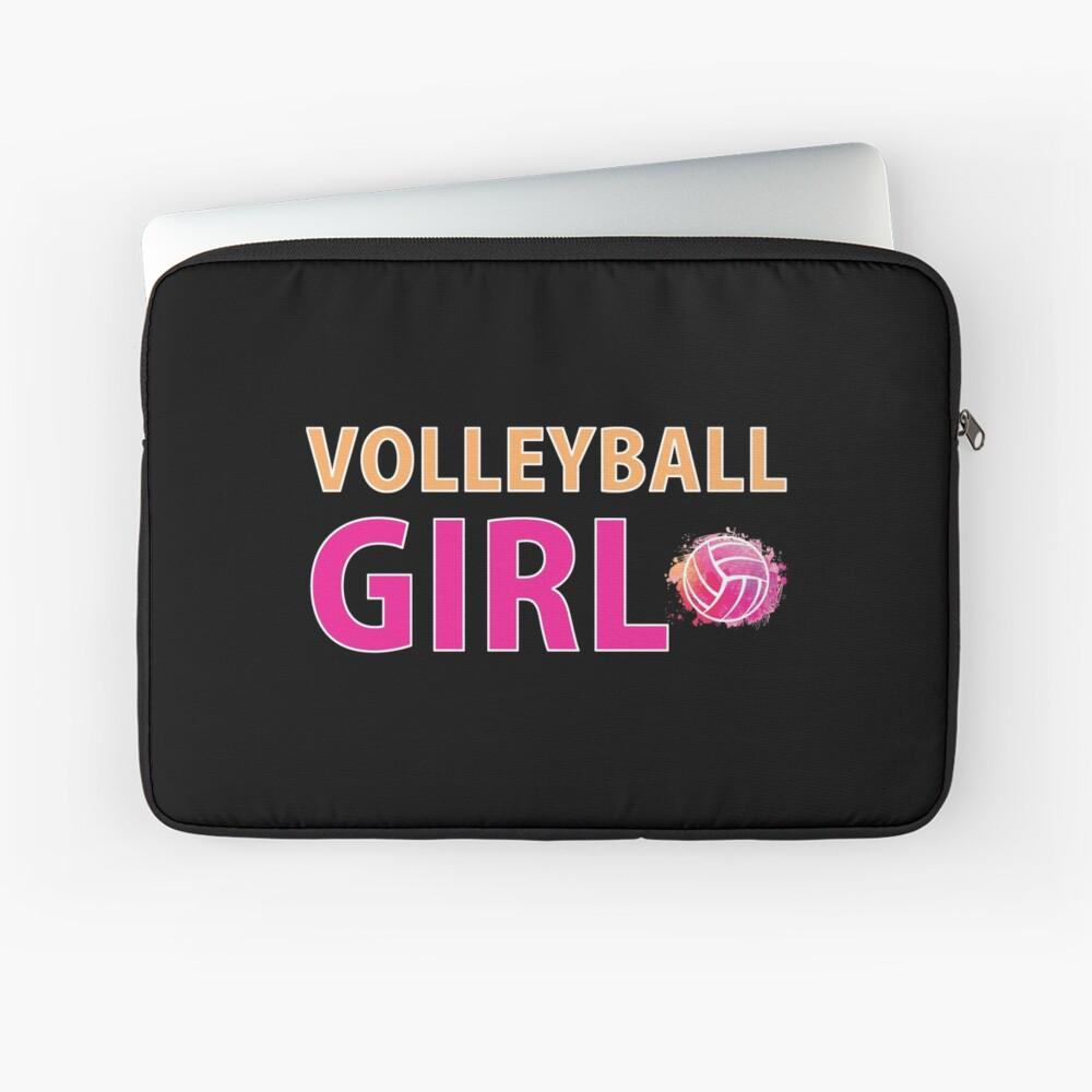 Volleyball Mädchen T-Shirts Sport Frauen Geschenkidee Laptoptasche