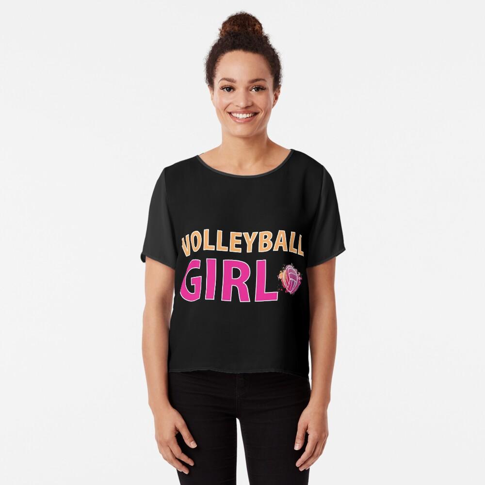 Volleyball Mädchen T-Shirts Sport Frauen Geschenkidee Chiffon Top
