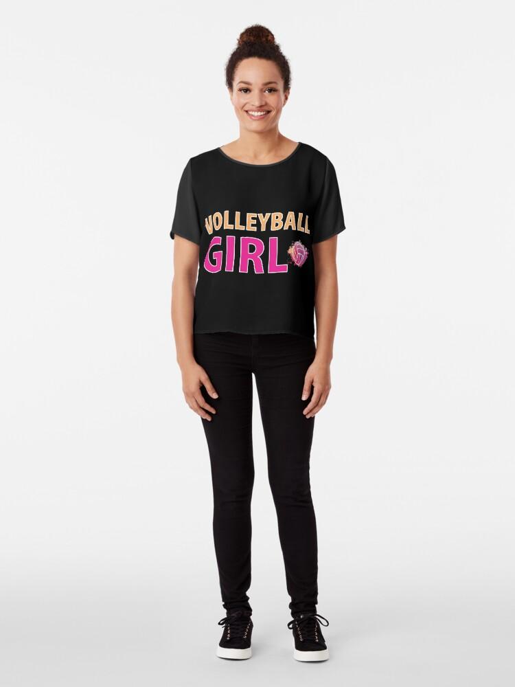 Alternative Ansicht von Volleyball Mädchen T-Shirts Sport Frauen Geschenkidee Chiffon Top