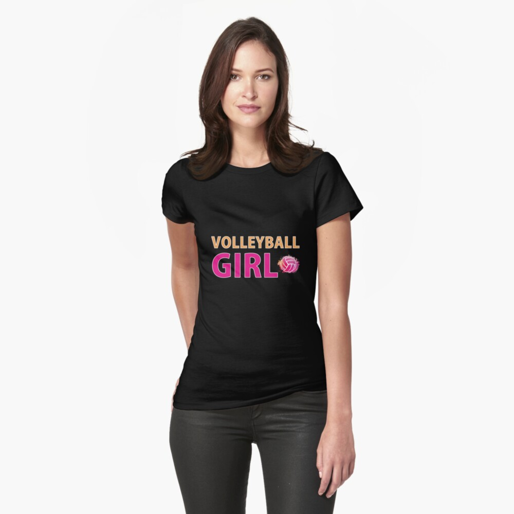 Volleyball Mädchen T-Shirts Sport Frauen Geschenkidee Tailliertes T-Shirt