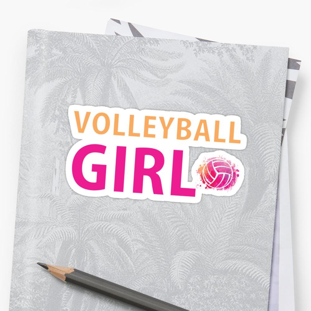 Volleyball Mädchen T-Shirts Sport Frauen Geschenkidee Sticker