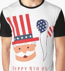 Camiseta gráfica Divertido y lindo 4 de julio / diseño gráfico de América.