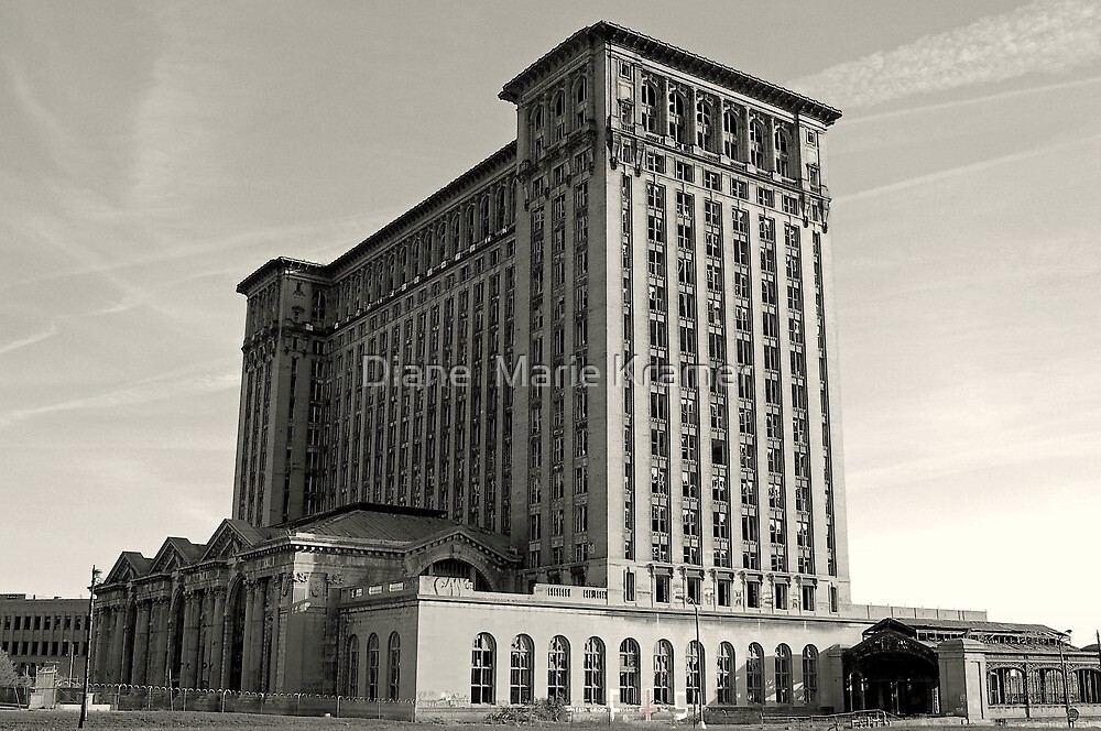 The Detroit Train Station by Diane  Marie Kramer