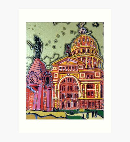 Defense! - Texas State Capitol - Austin, Texas Art Print