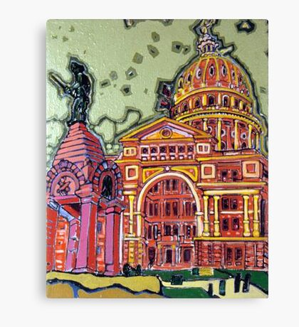 Defense! - Texas State Capitol - Austin, Texas Canvas Print