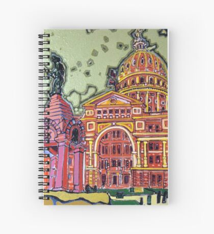 Defense! - Texas State Capitol - Austin, Texas Spiral Notebook