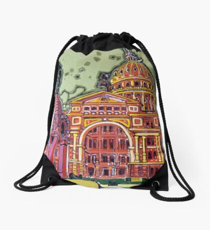 Defense! - Texas State Capitol - Austin, Texas Drawstring Bag
