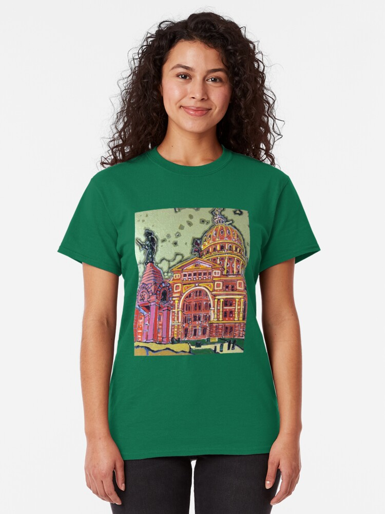 Alternate view of Defense! - Texas State Capitol - Austin, Texas Classic T-Shirt