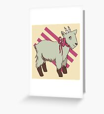 goat bow Greeting Card