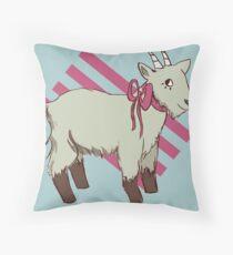 goat bow Throw Pillow