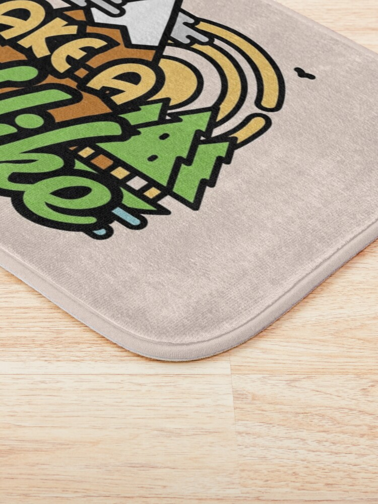 Alternate view of Take A Hike Bath Mat