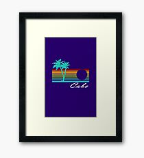 Cabo san lucas distressed geek funny nerd Framed Print
