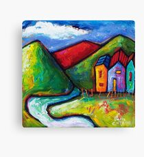 SLOW ROAD TO RED HILL  Canvas Print