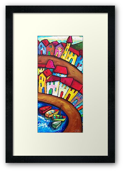 SUMMER  IN  AMALFI - ITALY    by ART PRINTS ONLINE         by artist SARA  CATENA