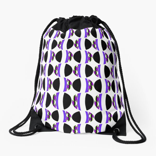 #Pattern, #abstract, #design, #fashion, decoration, repetition, color image,  geometric shape Drawstring Bag