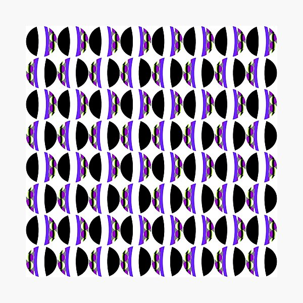 #Pattern, #abstract, #design, #fashion, decoration, repetition, color image,  geometric shape Photographic Print
