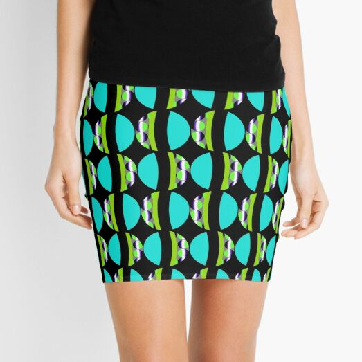#Pattern, #abstract, #design, #fashion, decoration, repetition, color image,  geometric shape Mini Skirt