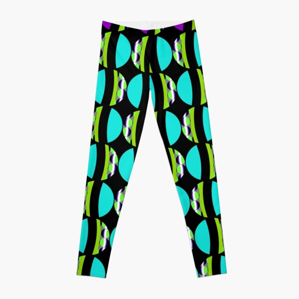 #Pattern, #abstract, #design, #fashion, decoration, repetition, color image,  geometric shape Leggings