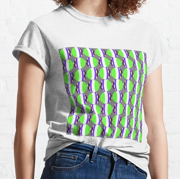 #Pattern, #abstract, #design, #fashion, decoration, repetition, color image,  geometric shape Classic T-Shirt