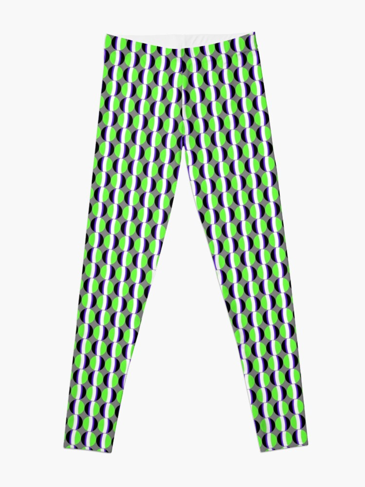 Alternate view of #Pattern, #abstract, #design, #fashion, decoration, repetition, color image,  geometric shape Leggings