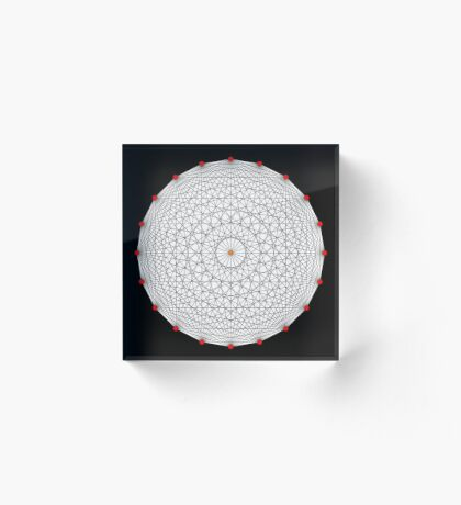 20 Points on a circle Acrylic Block
