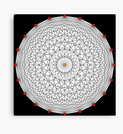 20 Points on a circle Canvas Print