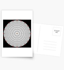 20 Points on a circle Postcards