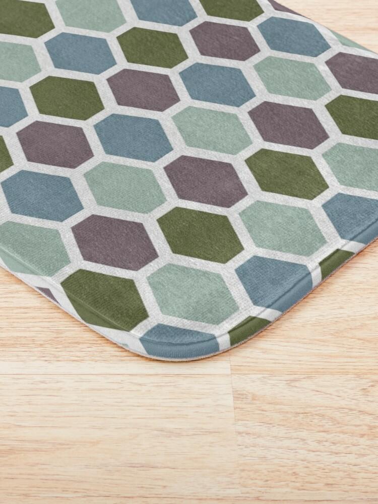 Alternate view of Mid Century Modern Honeycomb Bath Mat