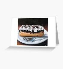 chocolate eclair Greeting Card