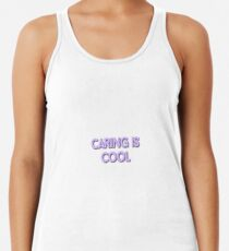 Caring is cool Racerback Tank Top