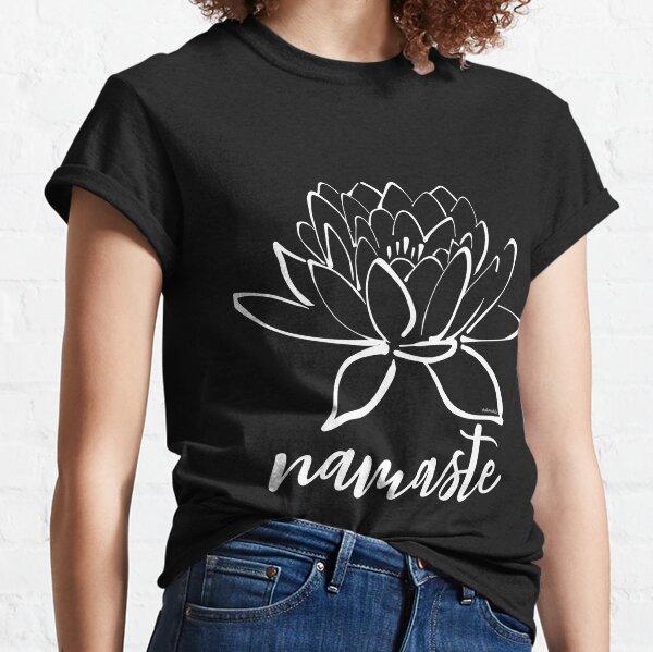 Namaste Lotus Calligraphy Classic T-Shirt