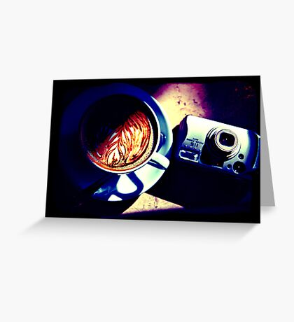Coffee. Lomography Greeting Card
