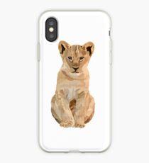 Baby lion illustration  iPhone Case