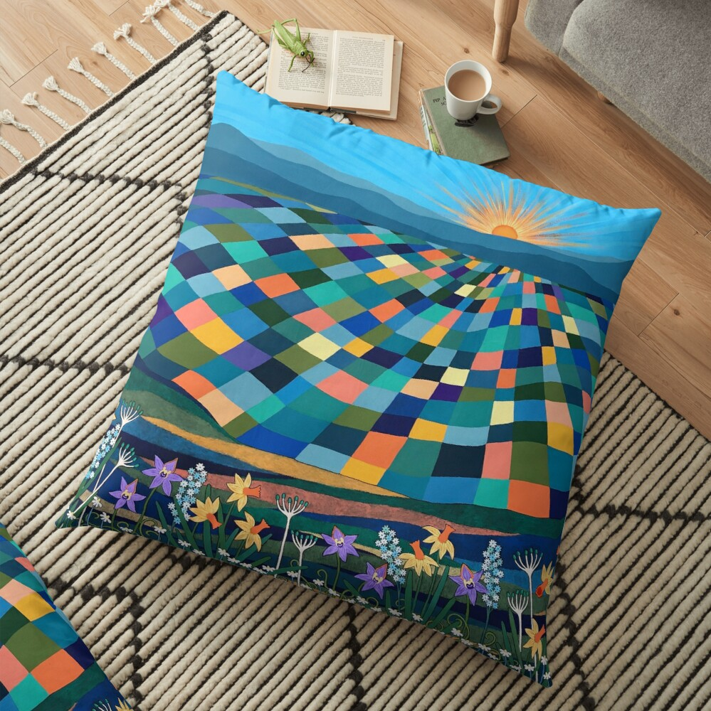 Bright Sun Shiny Day Floor Pillow