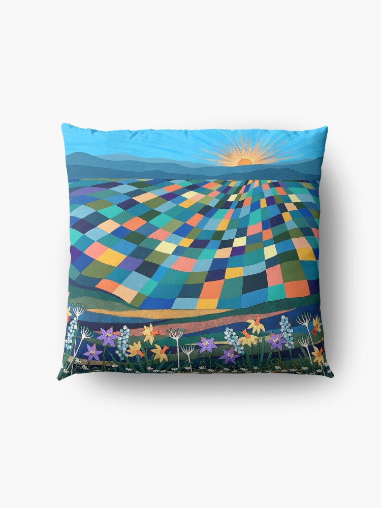 Alternate view of Bright Sun Shiny Day Floor Pillow