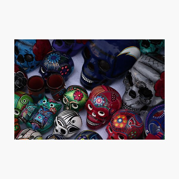 Day of the Dead Skulls Photographic Print