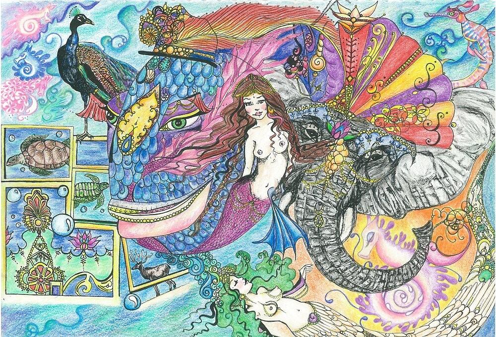 Fantasy Mermaid World by Melissa Jade Edwards