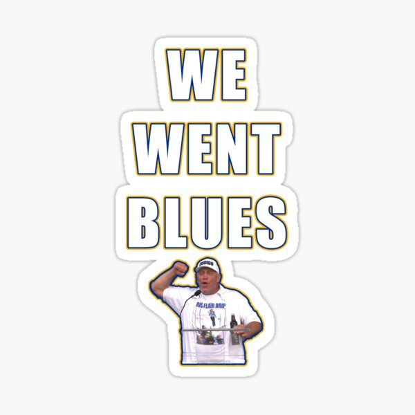 We Went Blues Sticker